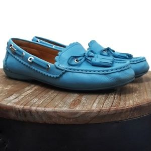 Coach Tassel Loafers Beautiful Blue!  8